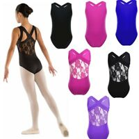 Kids Girls Leotard Gym Leotard Ballet Dance Dress Sleeveless Bodysuit Costume