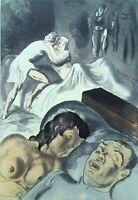 Campana Saint André: Joven Niña Cachottière - Lote De 2 Eaux-Forte, 1931
