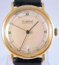 "VINTAGE RARE MILITARY WWII ERA SWISS MECHANICAL WATCH""CORTEBERT""GOLD PLATED# 36A"