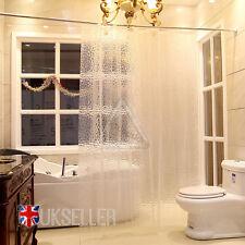 3D Shower Curtain Clear Plastic EVA Diamond Cube Thicker then PEVA Free 12 Hooks
