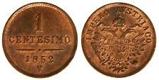 1 Centesimo 1852 V Regno Lombardo Veneto Q.Fdc/Fdc #3186A