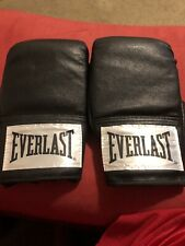 Everlast Boxing Gloves Black Sparring Mitts Fighting