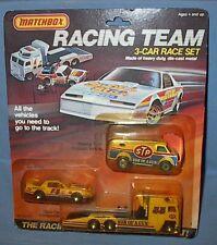 VINTAGE DIECAST MATCHBOX RACING TEAM 3-CAR RACE SET STP SON OF A GUN 1985 MOC