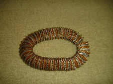 Vintage Costume Jewelry Slinky Bracelet-Gold & Silver Color Metal-LQQK