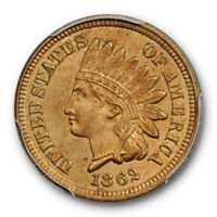 1862 1C Indian Head Cent PCGS MS 64 Uncirculated Copper Nickel US Cert#7820