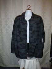 Old Navy Men's Rainproof lined Jacket size XXL Dark Grey Green Camo Full Snap