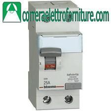 Interruttore differenziale puro A 2P 25A 300MA BTICINO G724A25