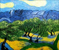 Van Gogh The Olive Trees Repro, 100% Hand Painted Oil Painting 20x24in