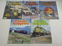 Pacific Rail News Railroad Magazines Lot Of 5 1988