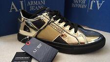 Armani Jeans Mirrored Gold Sneakers size 6.5UK (40EU)