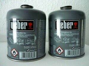 2x Weber Gas Kartusche 17846 für Q 100 Serie und Performer Touch-N-Go