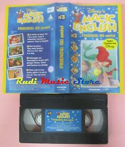 film VHS MAGIC ENGLISH DISNEY'S gli amici Friends VOL. 3 (F148**) no dvd