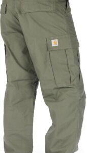 NEU !!! Carhartt Regular Cargo Pant W30 L30 Cypress rinsed oliv grün ripstop