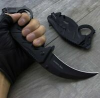"9"" TAC FORCE BLACK KARAMBIT TACTICAL FOLDING SPRING ASSISTED POCKET KNIFE Blade"
