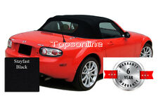 2006-14 Mazda MX5 Miata Factory Style Convertible Top & Heated Glass Black Cloth