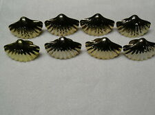 8 Brass Sea Shell Napkin Rings Beach Ocean Tableware