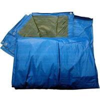 TOLDO LONA PROTECTOR  IMPERMEABLE DOS CARAS AZUL/VERDE de 90 a 120 grs.
