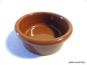 Lot of 48 2.5oz standard ramekin Carlisle 036228 lennox brown 4 doz