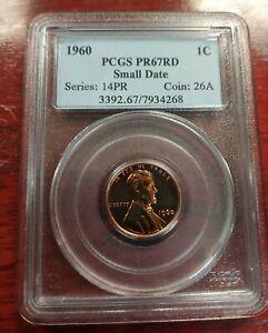 1960 1c PCGS PR67RD Small Date