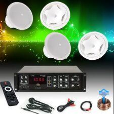 Gastro Restaurant PA System Bluetooth Amplifier Wall Cover Installation Speaker