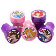 Disney Princess Authentic Licensed 10 Self Inking Stampers Goodie Bags Fillers
