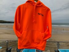 Fistral Beach Electric Orange Hoodies, Exclusive Logo Clothing from Cornwall