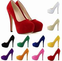Ladies Women's Platform Heels Stiletto Wedding High Heel Toe Pumps Bridal Shoes