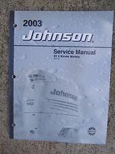 2003 Johnson Outboard Motor ST 4 Stroke 9.9 15 HP Service Manual MORE IN STORE U