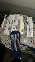 LOT OF 10 JAPANESE CHOPSTICKS LAQUER WOOD, WOOD,  VINTAGE, ANTIQUE, COLLECTIBLE