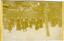 PHOTO la partie de croquet  filles jeu sport vers 1900 CURIOSA