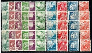 PORTUGAL , 1941 , COSTUMES , WHOLESALE of FIVE !! scarce full sets , MNH !