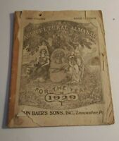 Antique Agricultural Almanac 1929 John Baer's Sons Lancaster PA 104th Volume