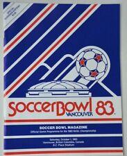 1983 NASL Soccer Bowl Toronto Blizzard vs. Tulsa Roughnecks soccer game program