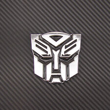 3D Transformers Autobot Emblem Logo Metal Sticker Badge Car Body Side Tank Cover