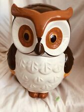 Heritage Collection Colorful Ceramic Owl Cookie Jar