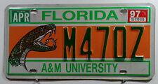 """USA Nummernschild aus Florida mit Schlange """"A&M UNIVERSITY"""". 7264."""