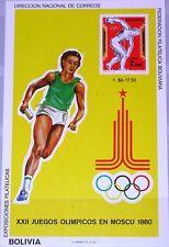 Bolivia Bolivia 1980 blocco 93 Summer Olympics Moscow Discus Throw Sports MNH