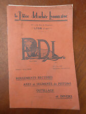 Libro antico garage pubblicità per parti staccata Di lione antico attrezzatura
