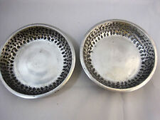 2 Serving Dishes Hammered Aluminum Bowls Design by Hardy  1995