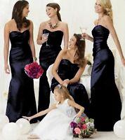 Satin Bridesmaid Dress Wedding Ballgown Evening Prom Formal Floor length lot