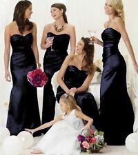 Satin Bridesmaid Wedding Dress Ballgown Wedding Evening Maxi Formal LUCY lot