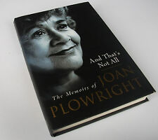 And That's Not All:  Memoirs of Joan Plowright. 1st ed. 1/1  Laurence Olivier
