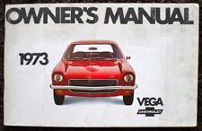CHEVROLET VEGA 1973 ILLUSTRATED OWNER'S MANUAL
