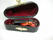Dollhouse Miniature Music 1:12 Violin Viola  with Case #Z211S Will Not Play