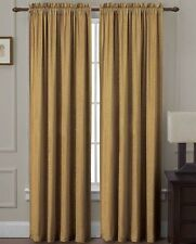 "Langdon Gold 54"" x 84"" 2-Pieces Rod Pocket Window Panel Curtains"