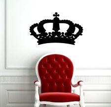KING CROWN QUEEN ABSTRACT DESIGN CUTE WALL VINYL STICKER DECAL  ART MURAL D1926
