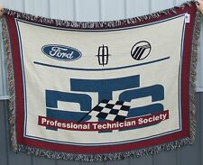 Ford Lincoln Mercury Quality Care Masters PTS Blanket 100% Cotton Made in USA