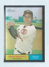 BRIAN ROBERTS 2010 TOPPS HERITAGE CHROME BLACK REFRACTOR /61