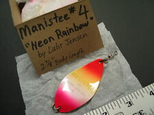 Vintage MANISTEE #4 NEON RAINBOW by Luhr Jensen SALMON Trolling SPOON Lure