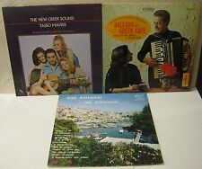 Greek Music - Ballads Of A Greek Cafe, New Greek Sound, Taste Of Bouzouki 3 LPs